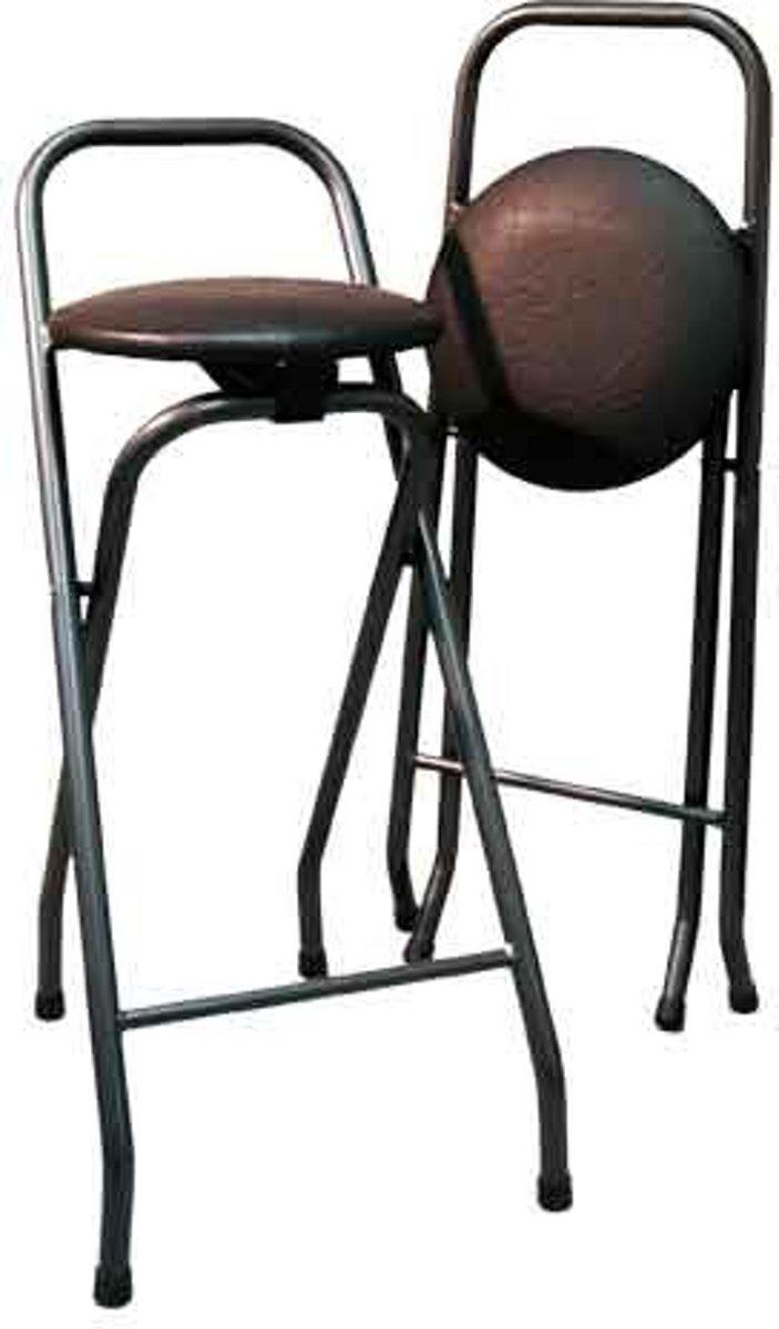 Barkruk Popular, zwart kunstleer