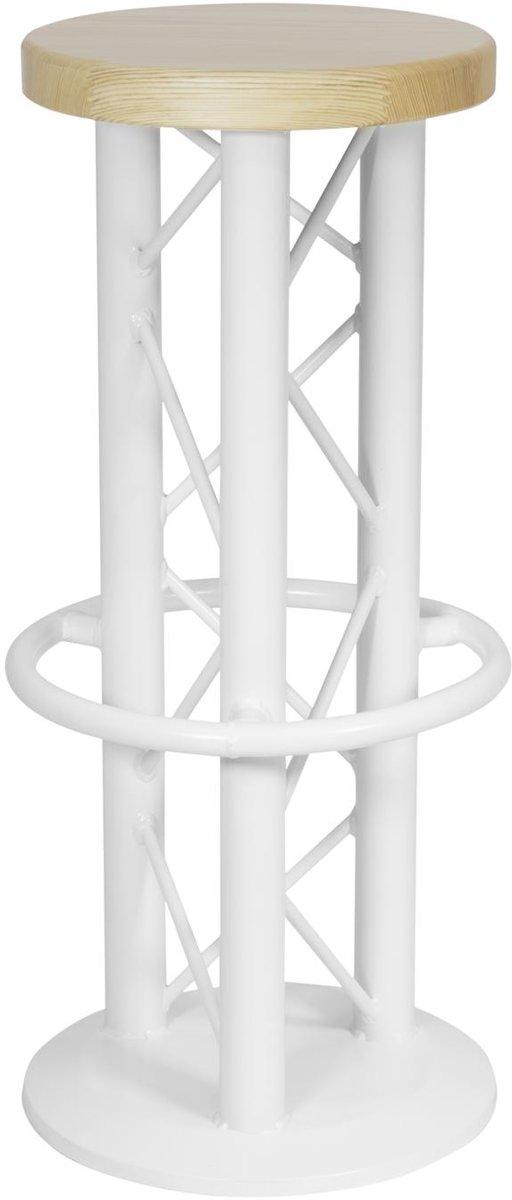 ALUTRUSS barkruk industrieel metaal - wit - truss