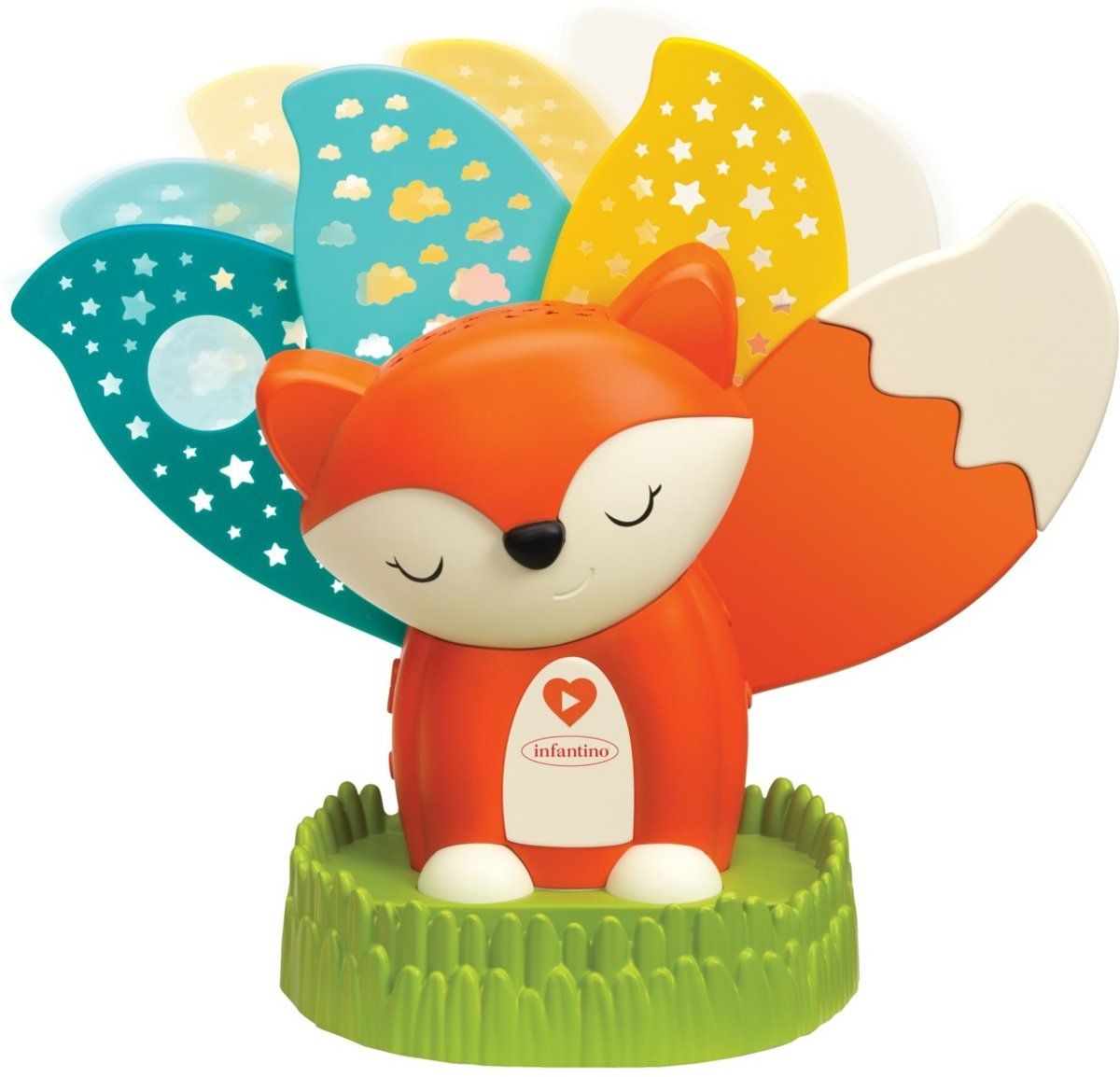Infantino WOM Musical Night Light Projector Fox