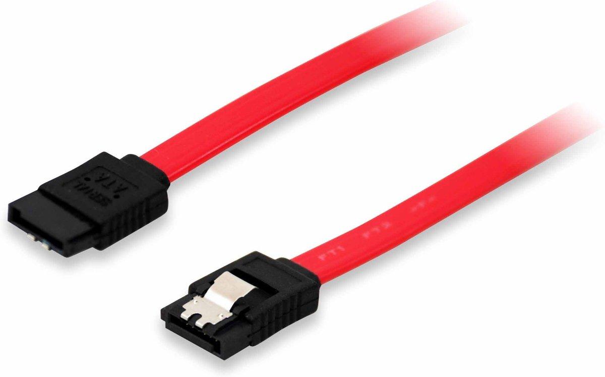 Equip 111800 SATA-kabel 0,5 m SATA 7-pin Rood