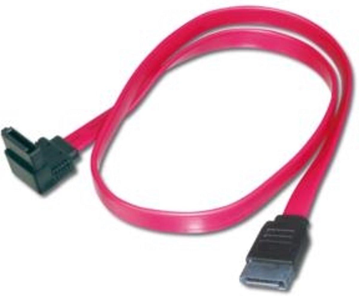 ASSMANN Electronic 1x SATA 7-pin, 0.5 m SATA-kabel 0,5 m Zwart, Rood