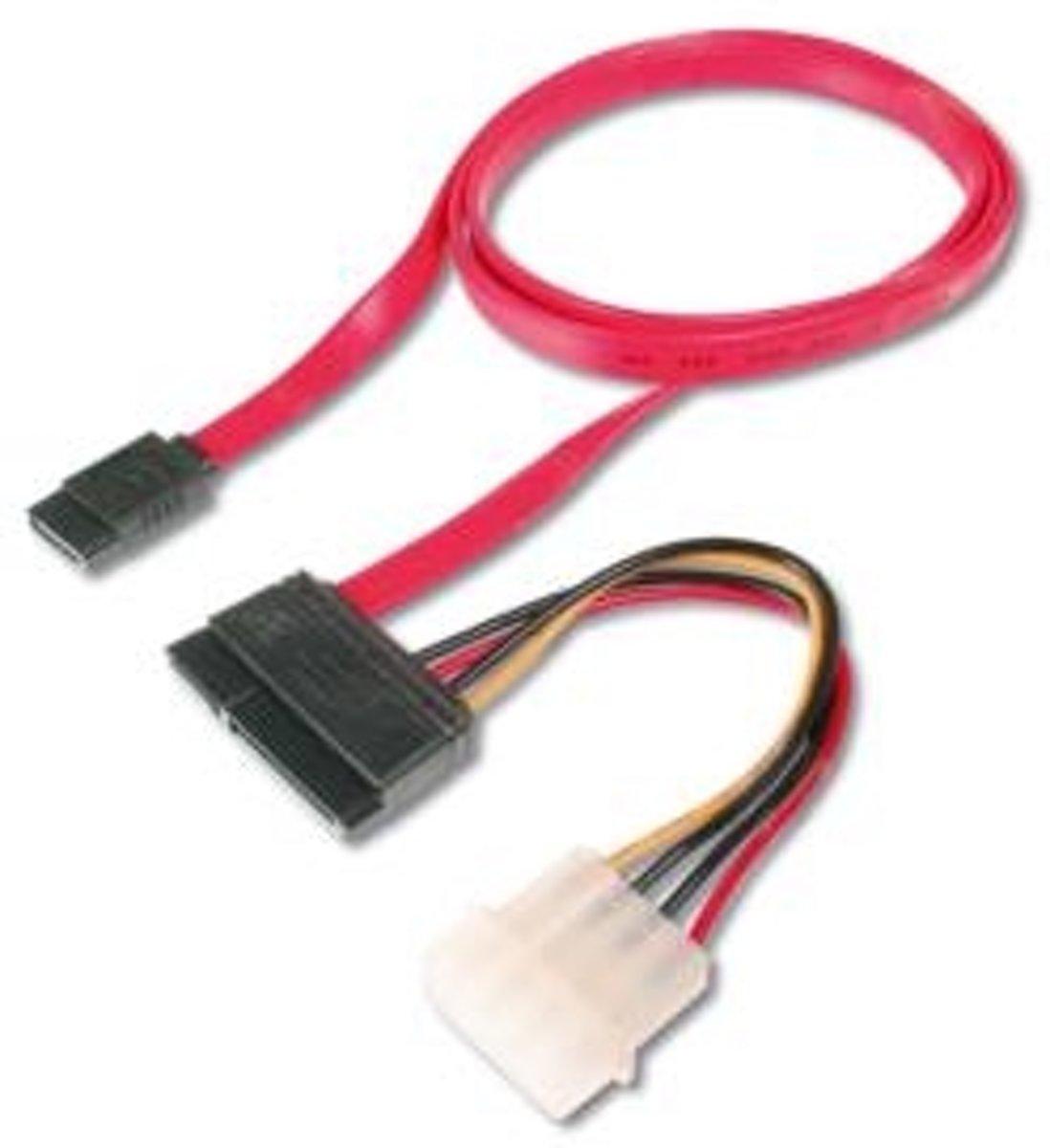 ASSMANN Electronic AK-400112-005-R SATA-kabel 0,5 m SATA 22-pin Rood