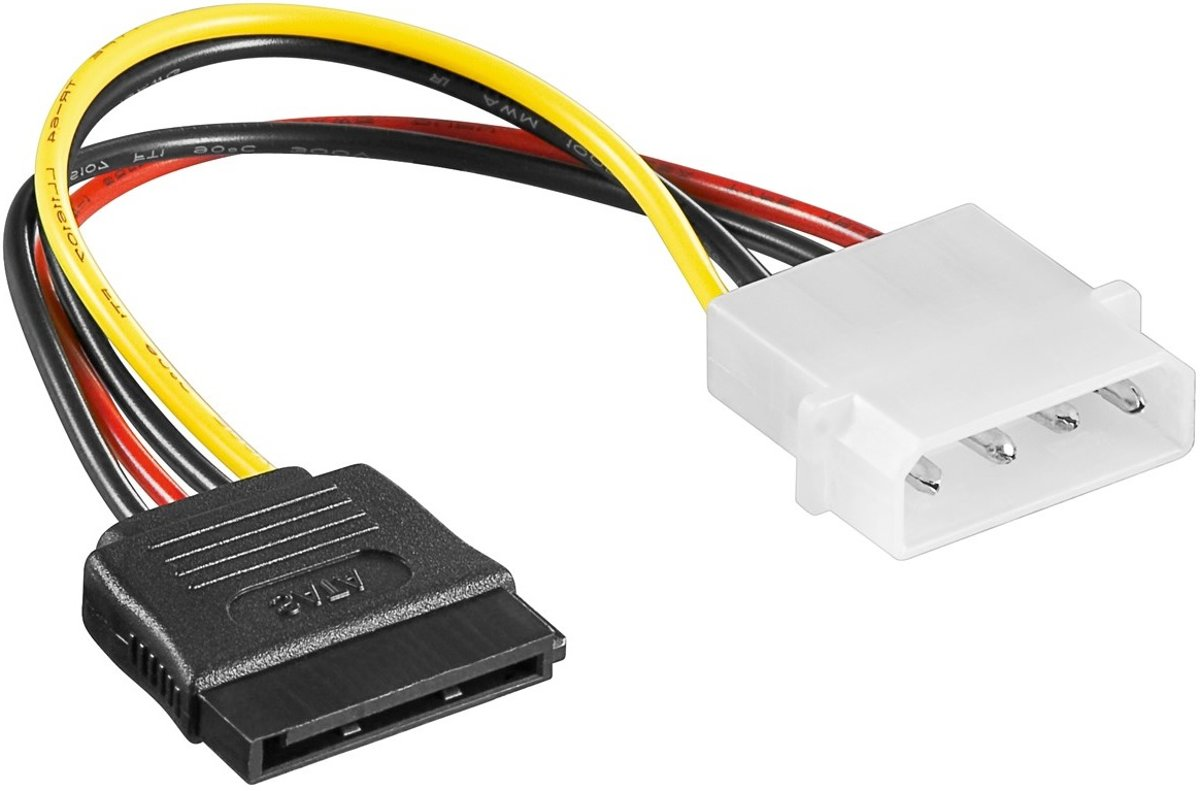 Goobay CAK SATA 4P/S-ATA power adapter 0.13m SATA-kabel
