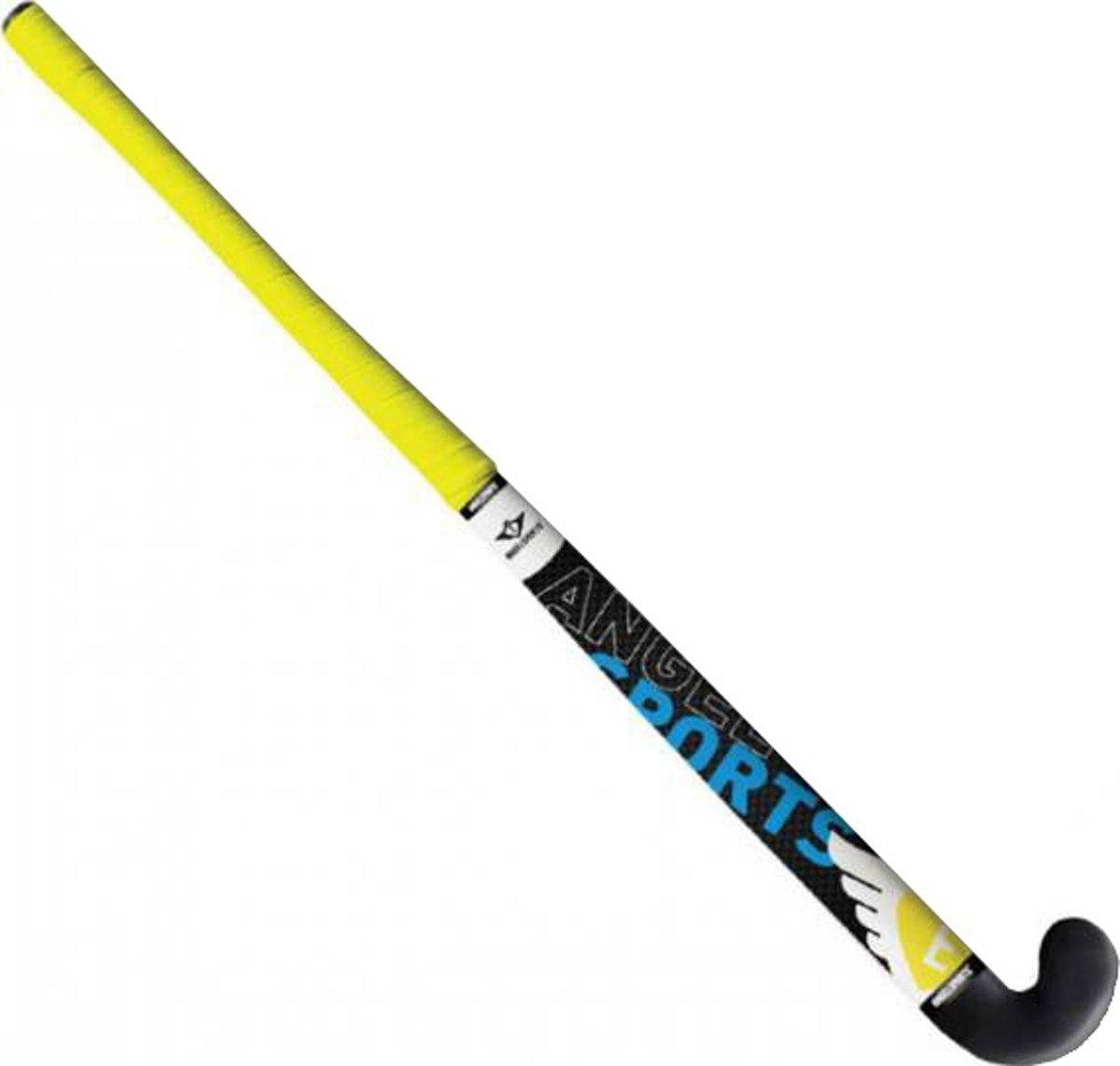 Hockeystick 33 1 stuk kunststof geel