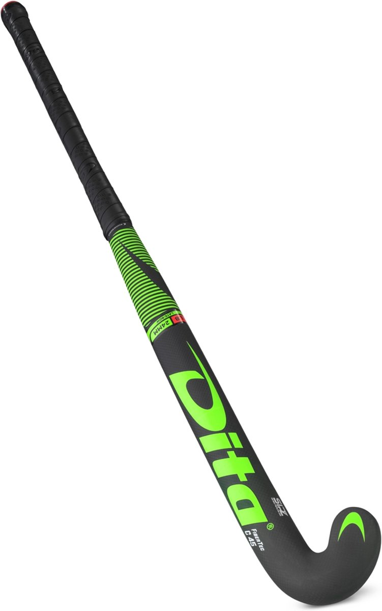 DITA? FiberTec C45 L-Bow Hockeystick Unisex - Fluo groen/zwart