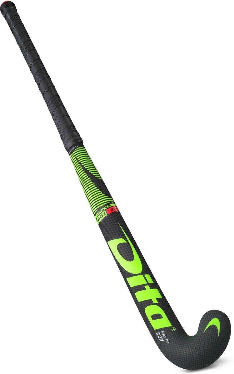 DITA? FiberTec C20 M-Bow Hockeystick Unisex - Fluo groen/zwart