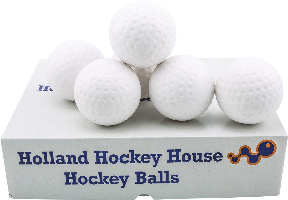 Hockeyballen dimple - no logo - wit - 120 stuks