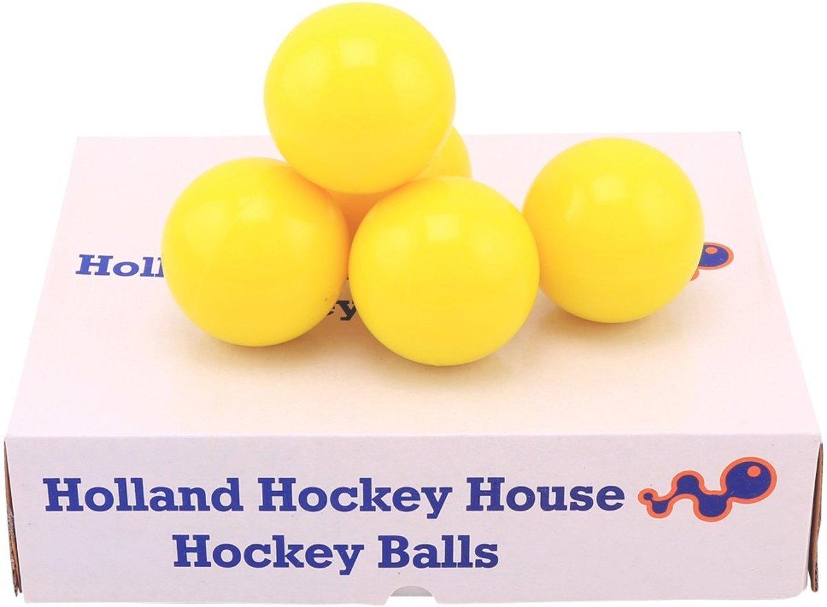 Hockeyballen glad geel - no logo -12 stuks