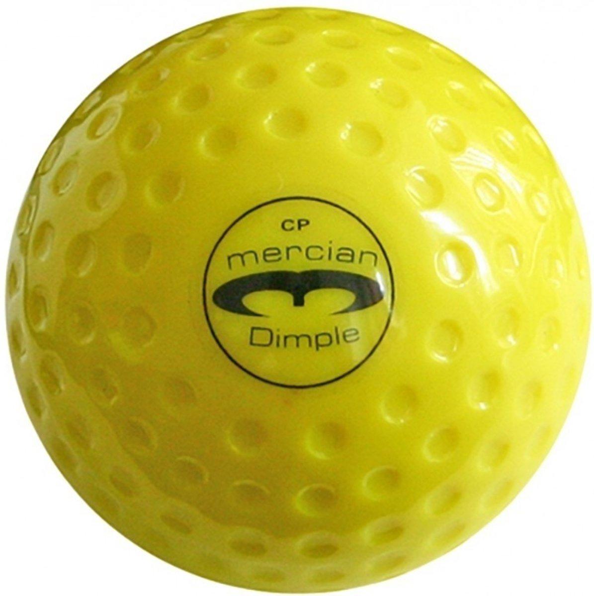 Hockeybal Dimple - geel - no logo - 12 stuks