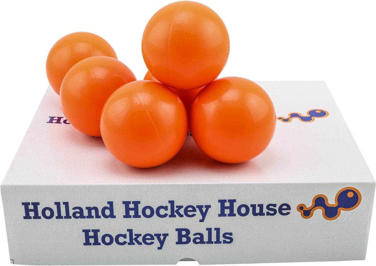 Hockeyballen No Logo - glad - oranje - 120 stuks