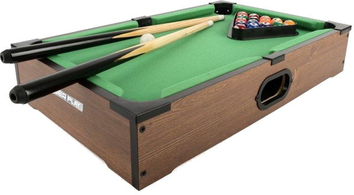 Toyrific Poolbiljarttafel 27 Inch Bruin 20-delig
