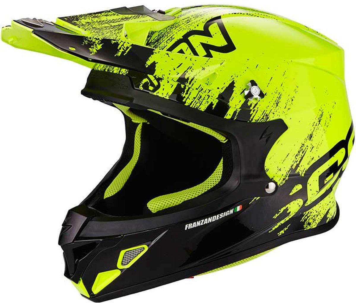 Scorpion Crosshelm VX-21 Air Mudirt Black/Neon Yellow-M
