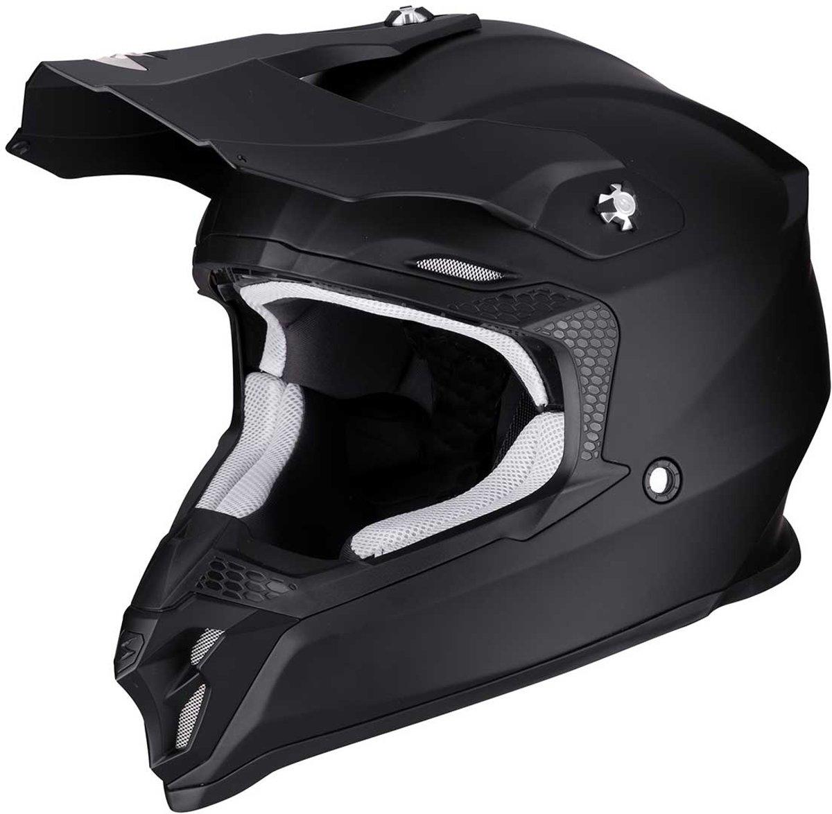 Scorpion Crosshelm VX-16 Solid Matt Black-XS