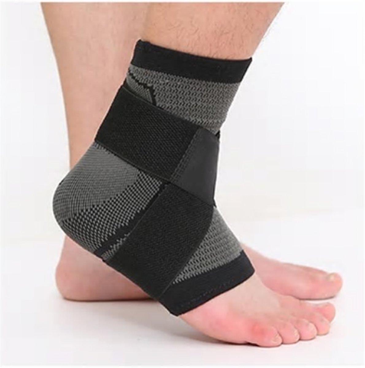 Enkelbrace Enkelbandage Band - Straps - Ortho Stretch Compressie - Enkelsleeve - Medium Enkel bescherming en ondersteuning - Lichtgewicht Zwart - Maat XL