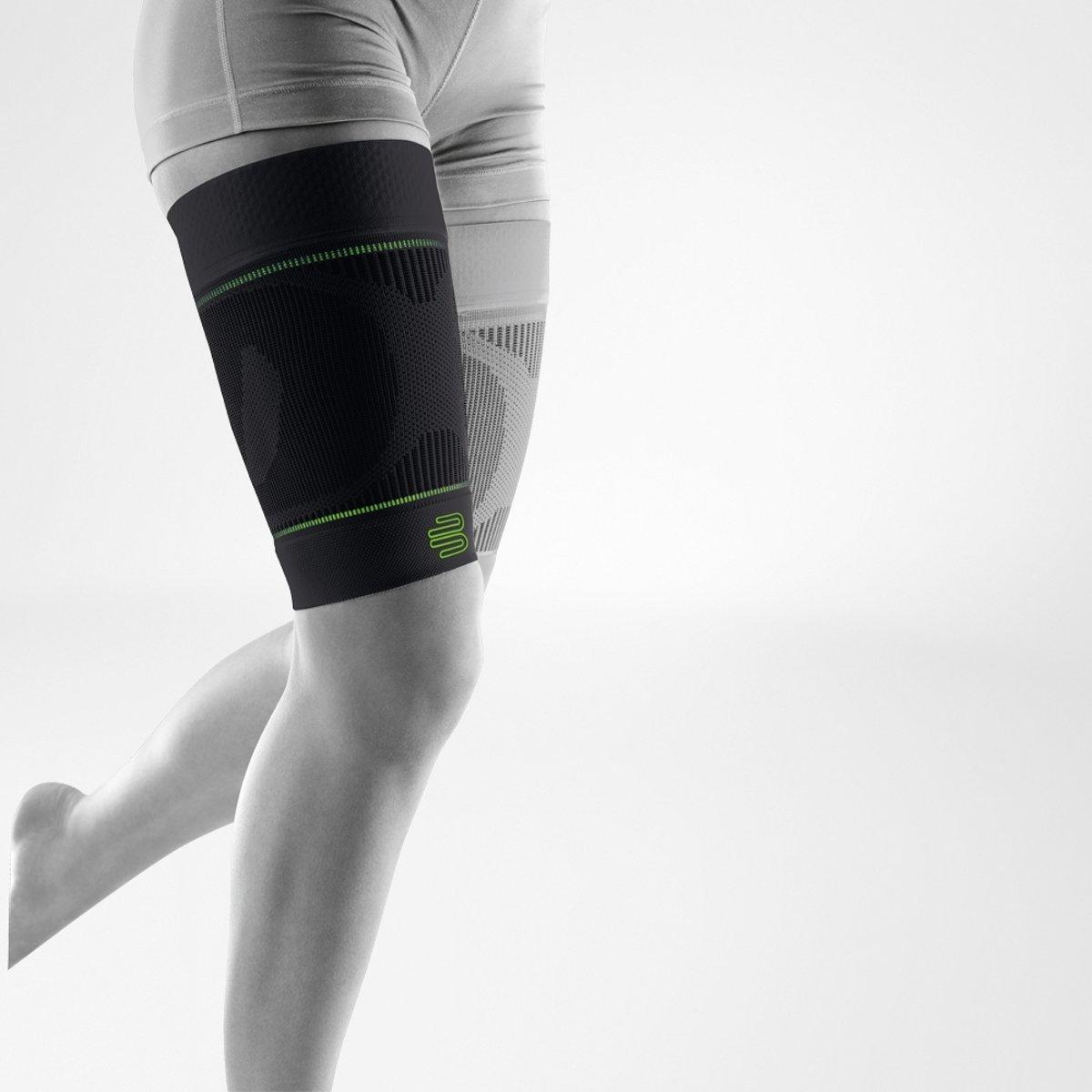 Bauerfeind Sport Compressie Bovenbeen Hamstring Sleeve (Per paar) - Zwart
