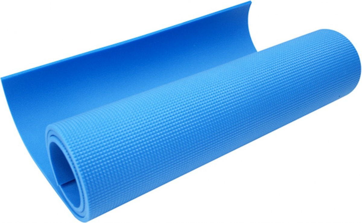 Care Fitness fitnessmat 160 x 50 cm 7 mm blauw