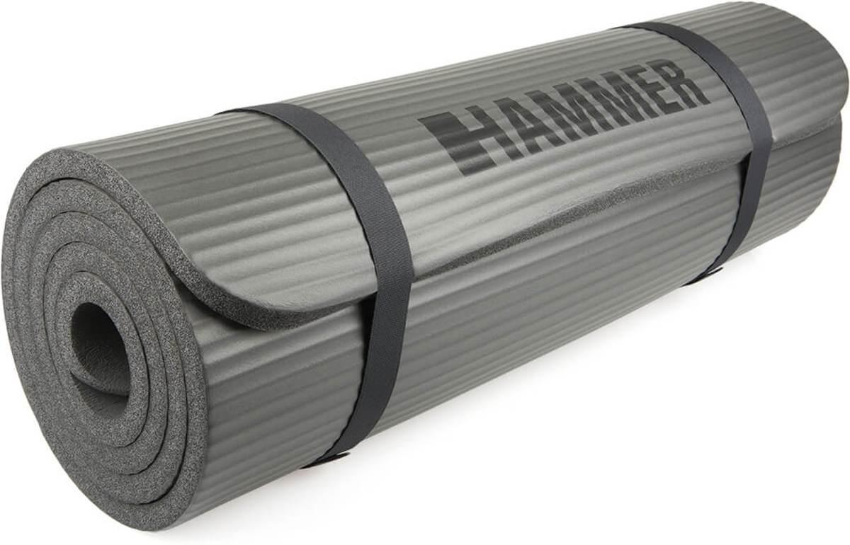 Hammer Fitness - Fitnessmat - 182 x 60 x 1,5cm - Grijs