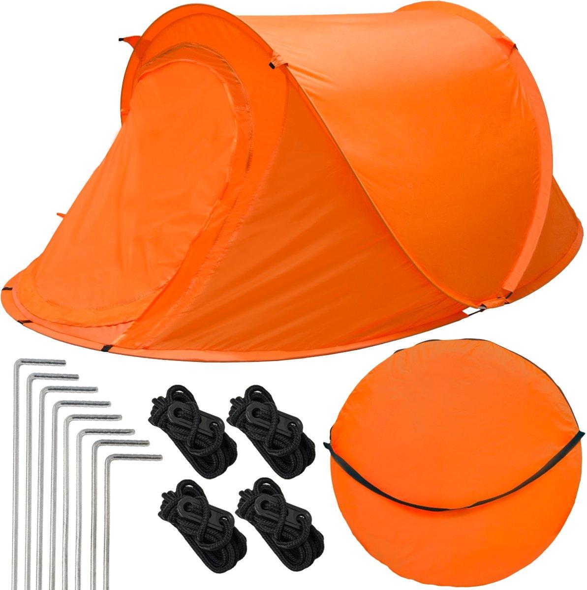 Popup tent Gooi tent ultralichte kampeertent 245x145x100cm Tweede tent Incl. tas Automatische tent