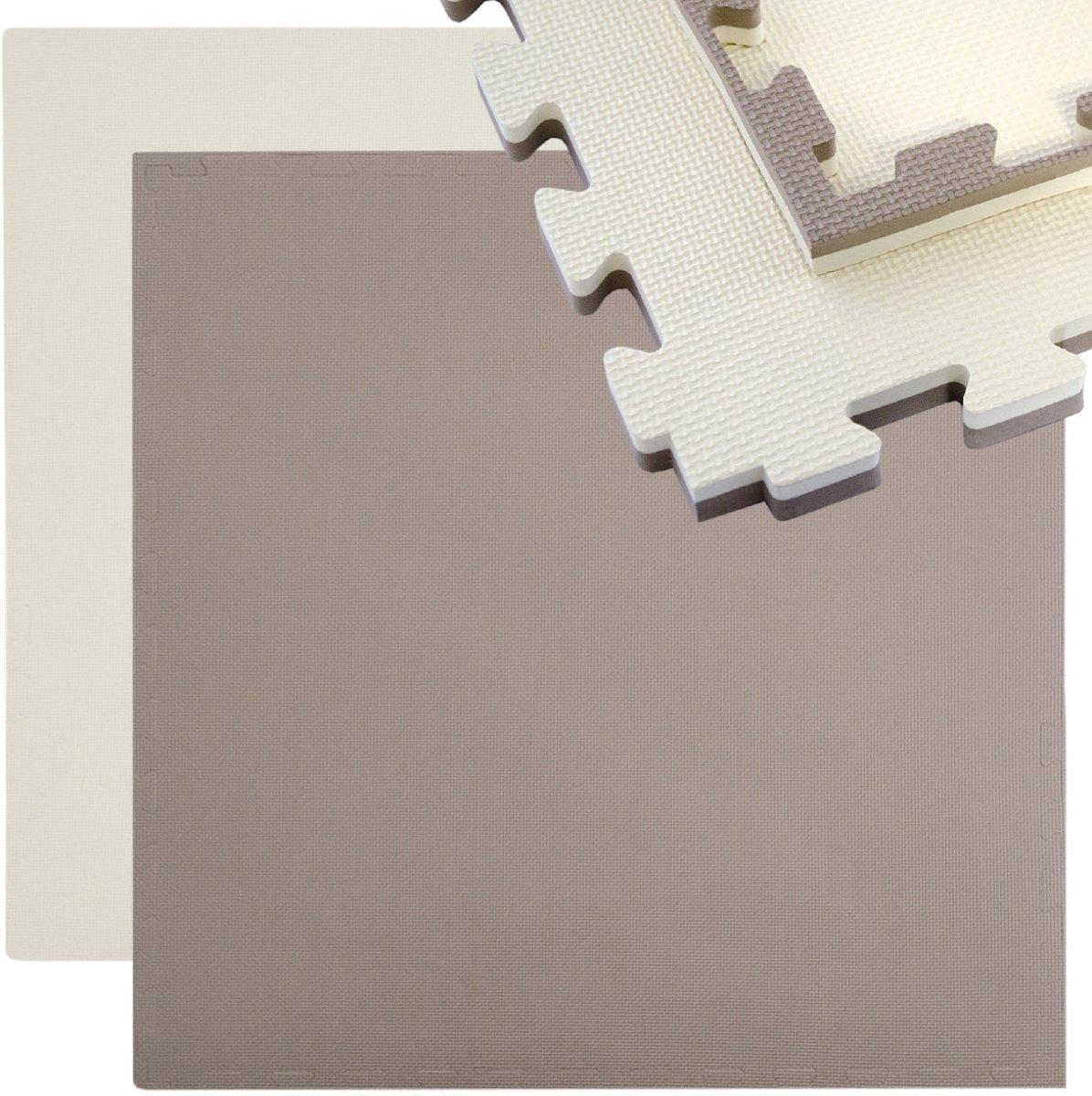 Sportmat 90x90cm 25mm dik Puzzelmat Omkeerbare vloermat uittrekbaar incl. rand