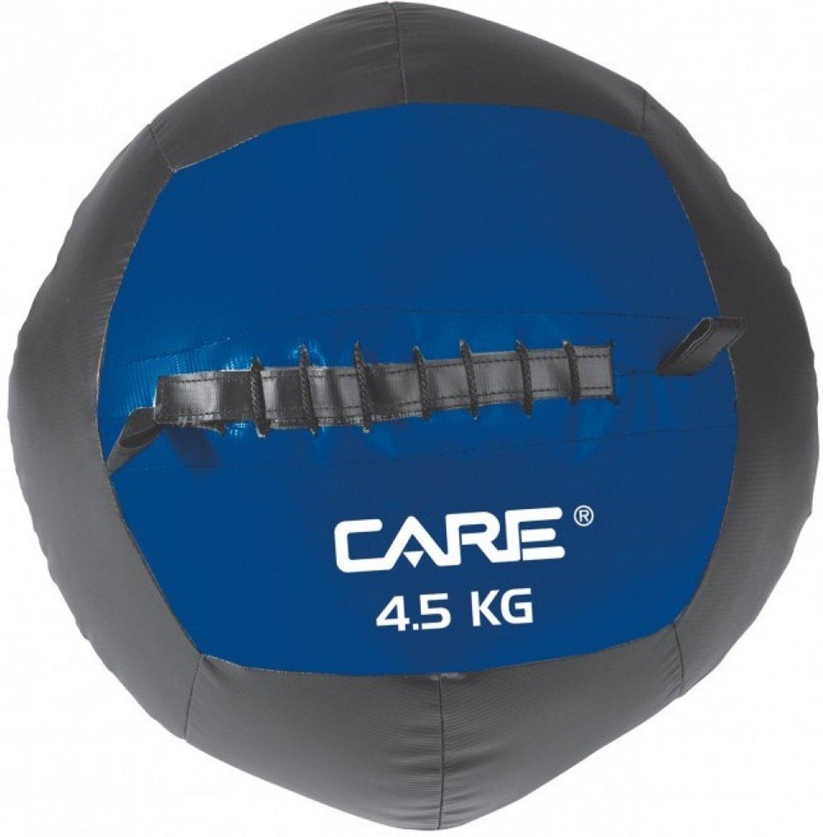 Care Fitness - Wallball 4,5 Kg - Functional Fitness - Blauw/zwart