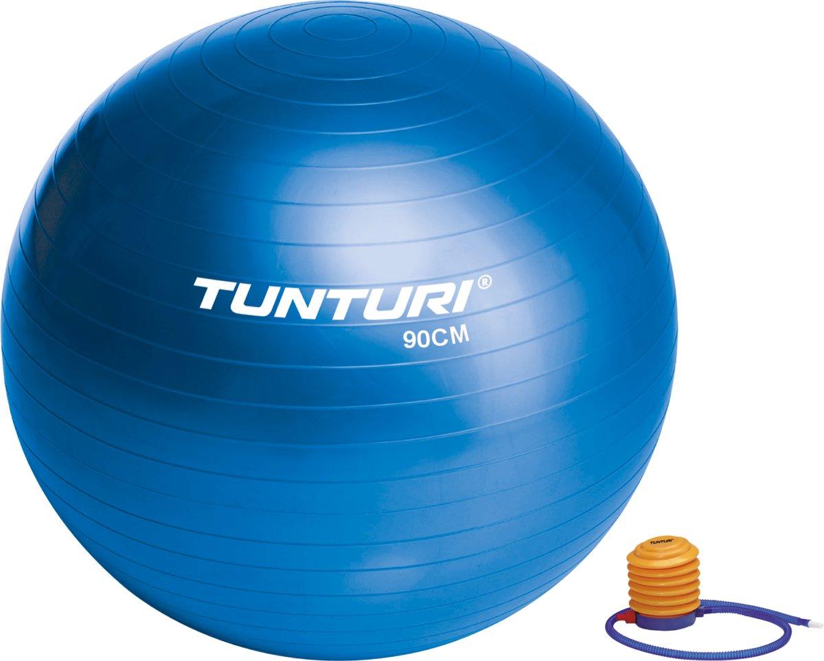 Tunturi fitnessbal 90 cm - blauw