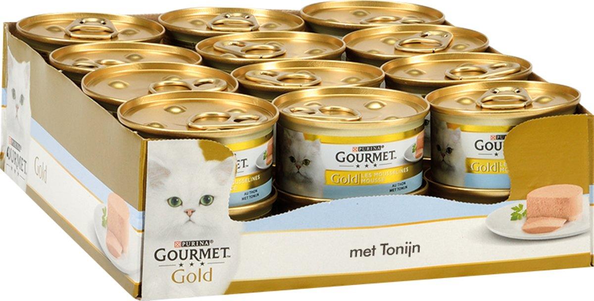 Gourmet Gold Mousse - Tonijn/Oceaan Vis 85 gr - Kattenvoer - 24 x 85 g