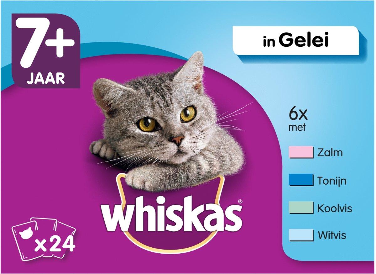 Whiskas 7+ Vis In Gelei - Kattenvoer - 24x100 g