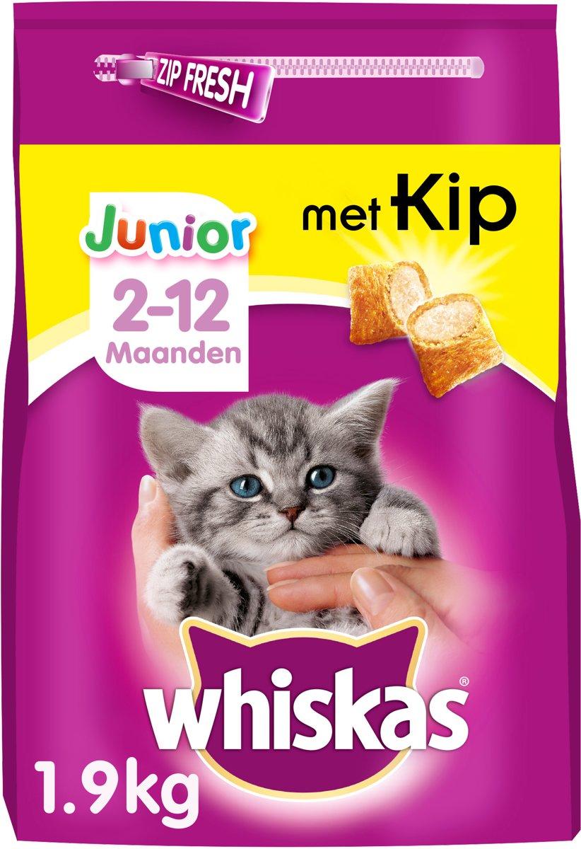 Whiskas Brokjes Junior - Kip - Kattenvoer - 1.9 kg