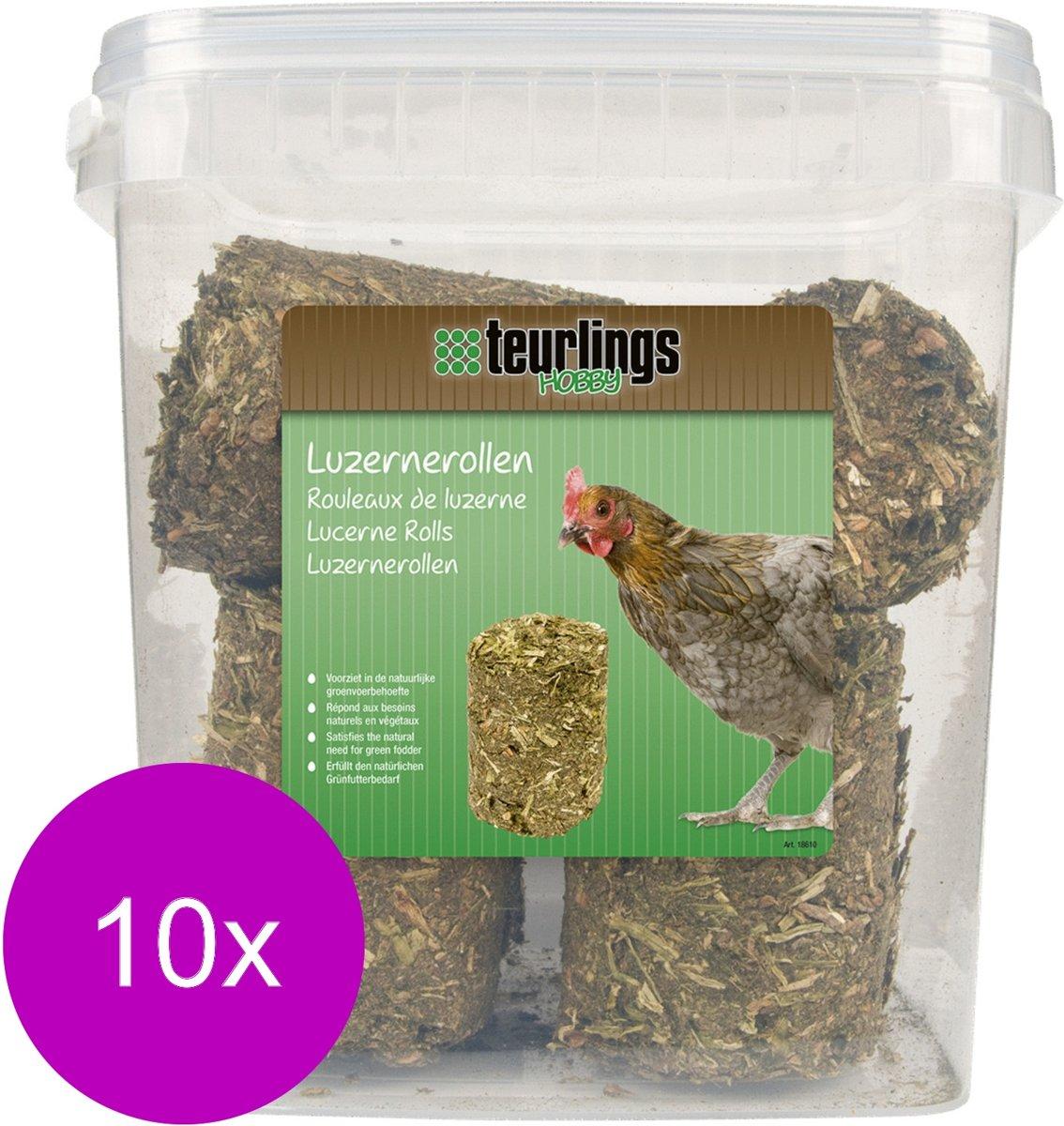 Teurlings Luzernerollen - Kippenvoer - 10 x 2 kg