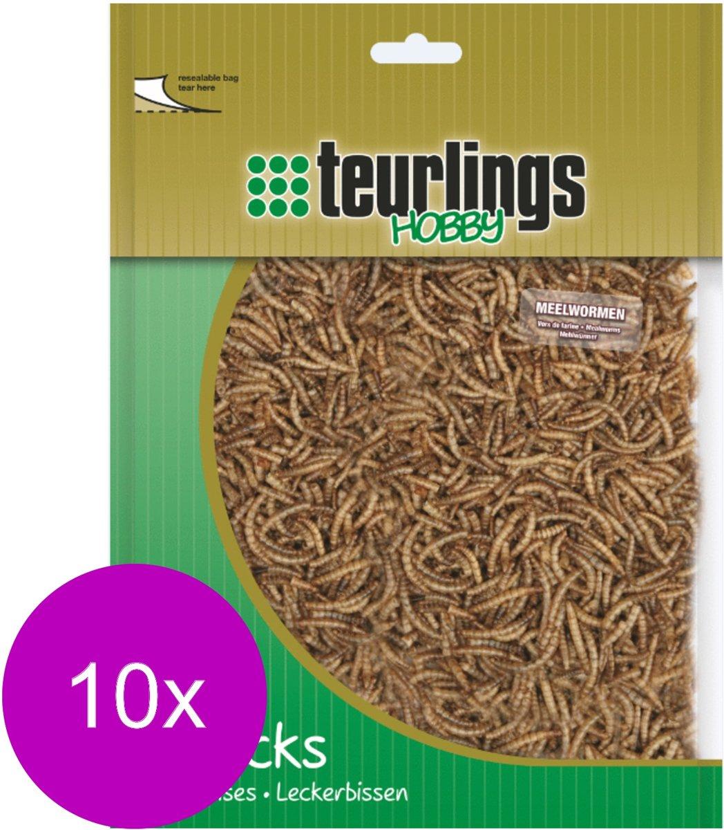 Teurlings Meelwormen - Kippenvoer - 10 x 200 g