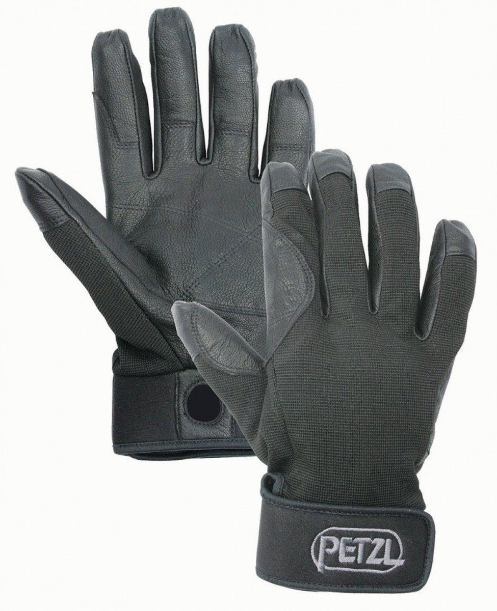 Petzl Cordex leren werkhandschoenen XL - Zwart