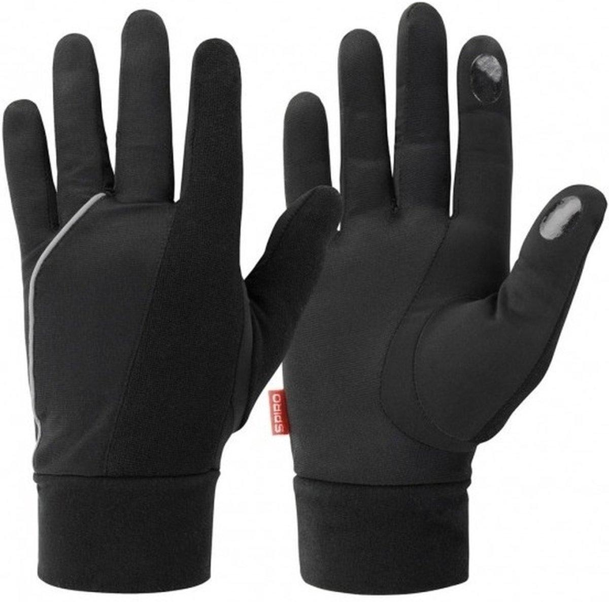 Zwarte hardloop handschoenen voor volwassenen L