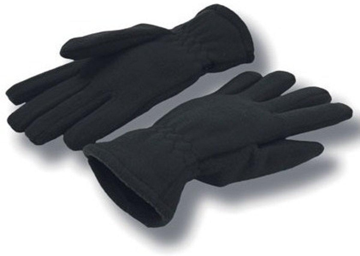 Zwarte fleece handschoenen voor volwassenen S/M