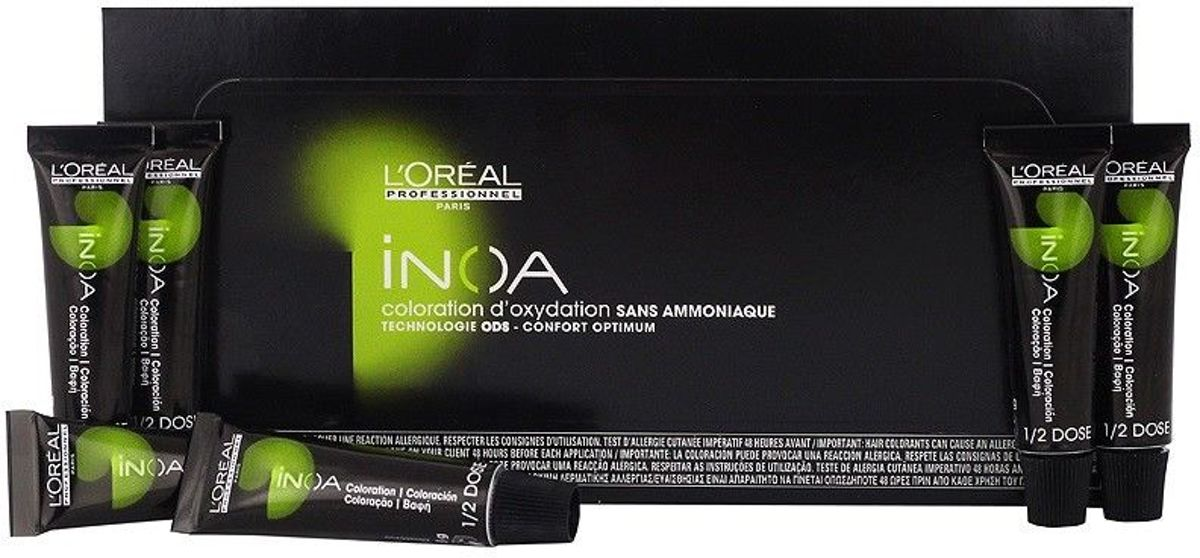 L'Oreal Inoa 7.35 goud mahonieblond (6 x 8 g) haarverf zonder ammoniak