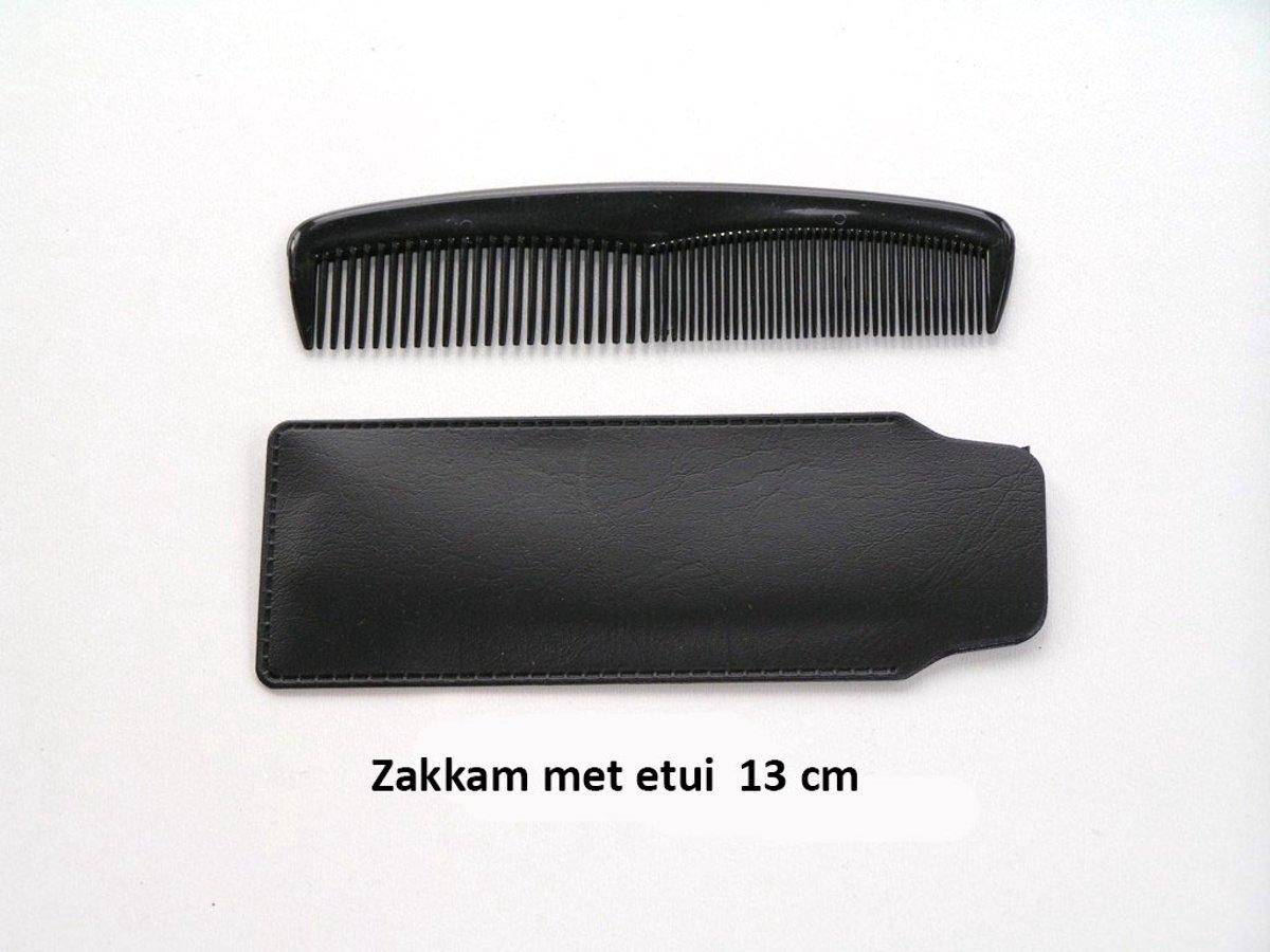 Rojafit - Zakkam met Etui -13 cm.- Zwart.