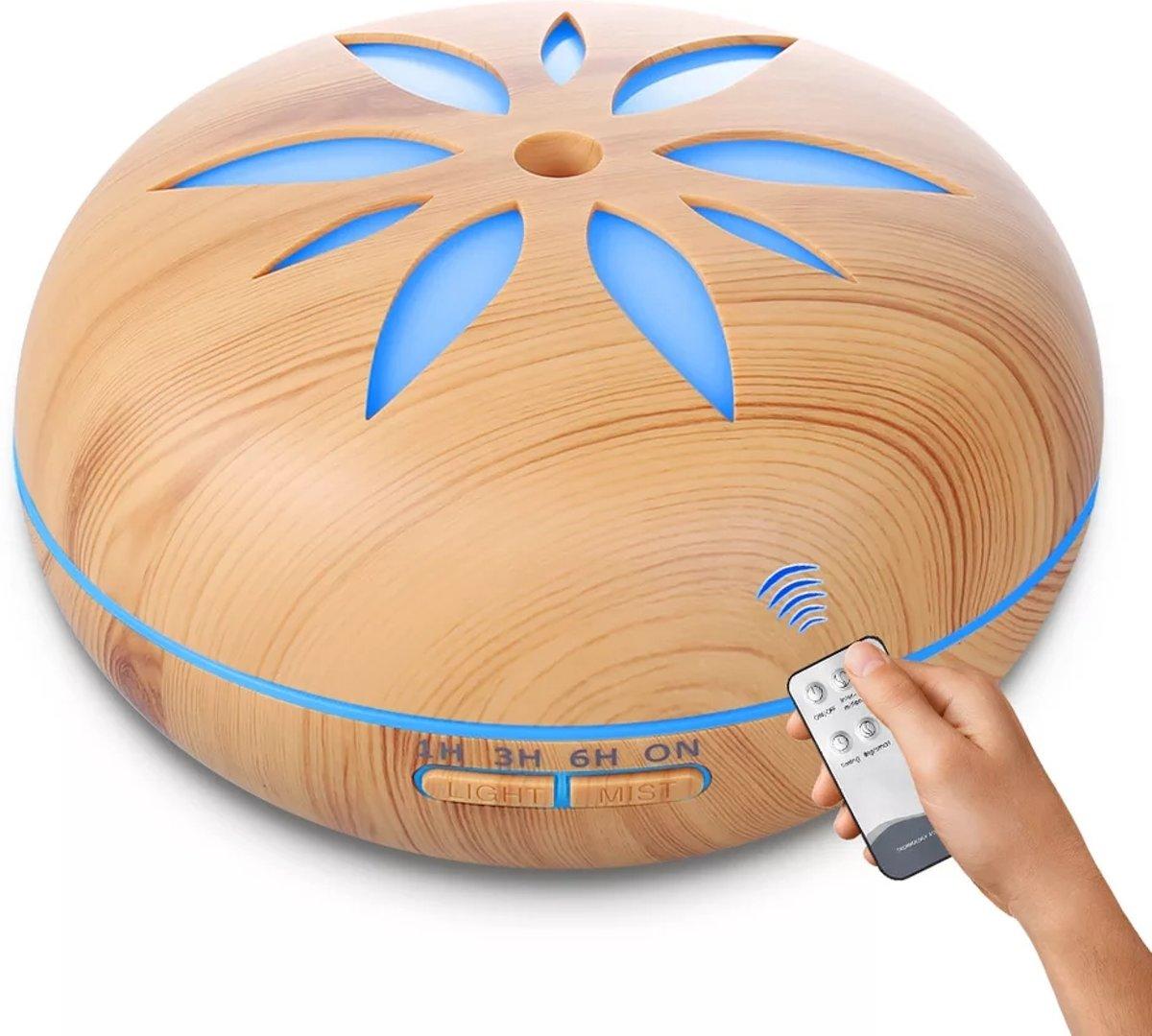 SensaHome ZEN500 Aroma diffuser Geur Verspreider +Afstandbediening /  Anti Bacterie Met Sfeervolle LED Verlichting - Luchtbevochtiger - Olie Verdamper/Olie Vernevelaar