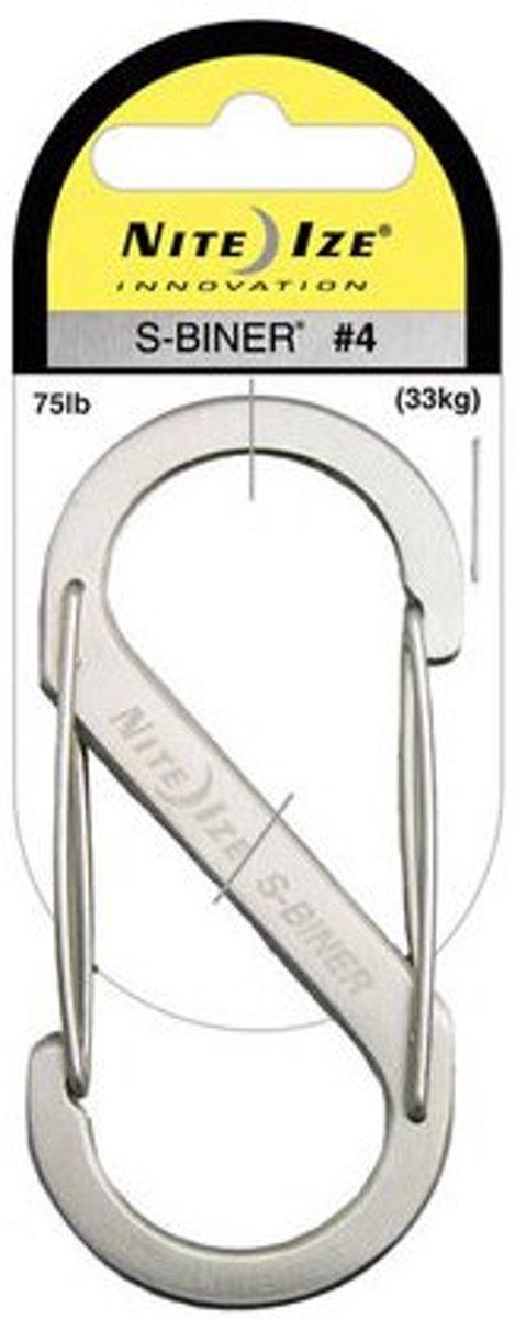 Nite Ize S  - Biner #4 roestvrijstaal zilver