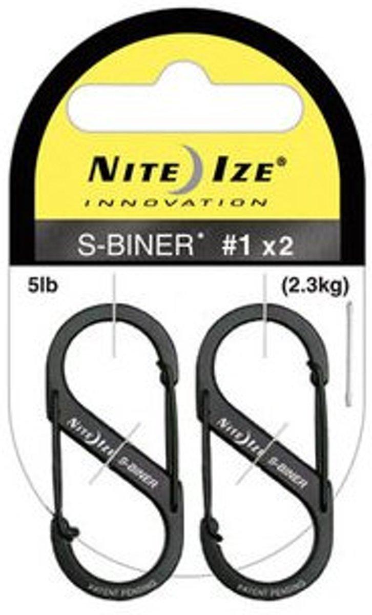 Nite Ize - S-Biner - 2x zwarte Carabiner
