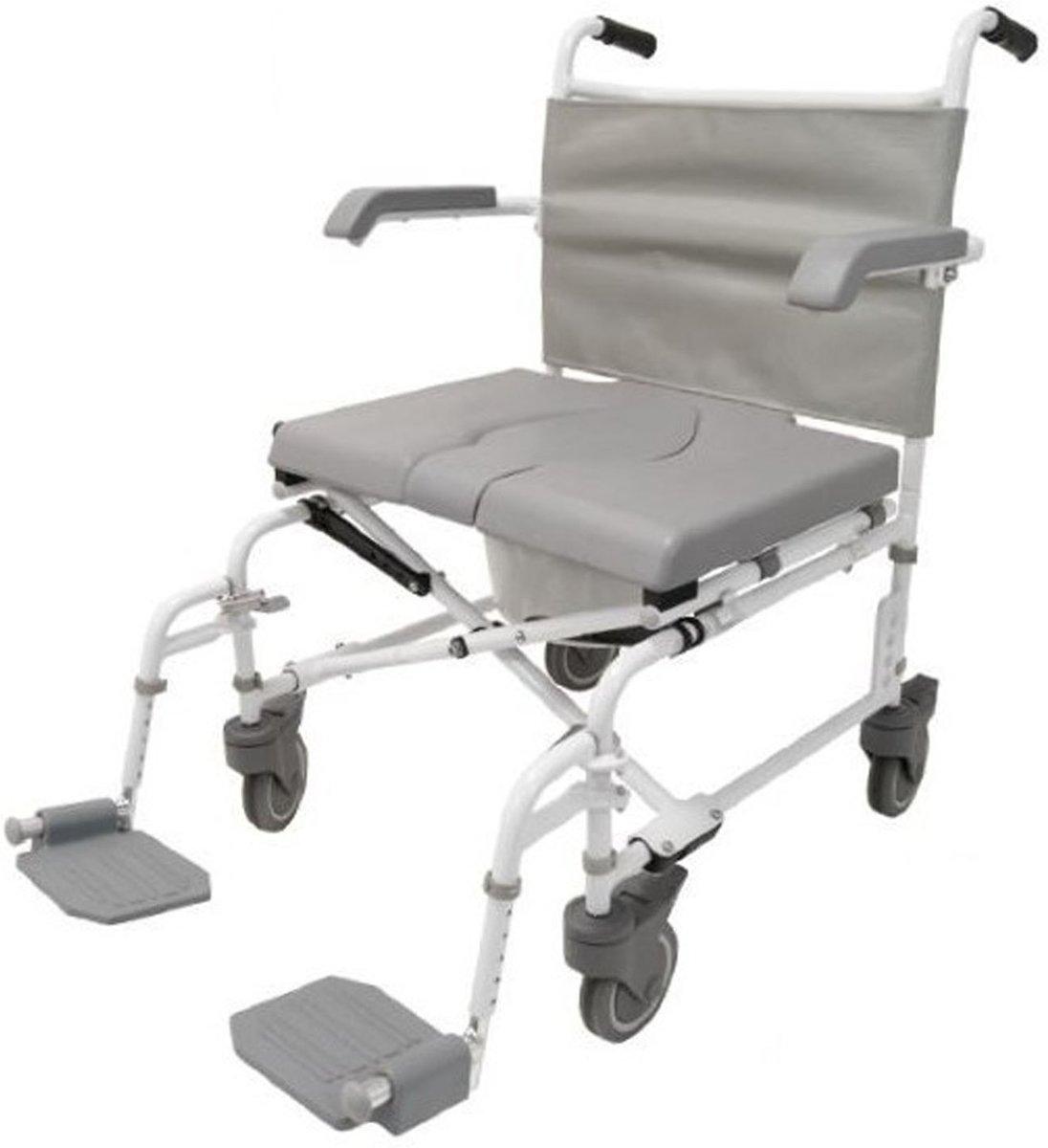 Douche - Toilet stoel XL verrijdbaar Duo Motion 5 inch wielen