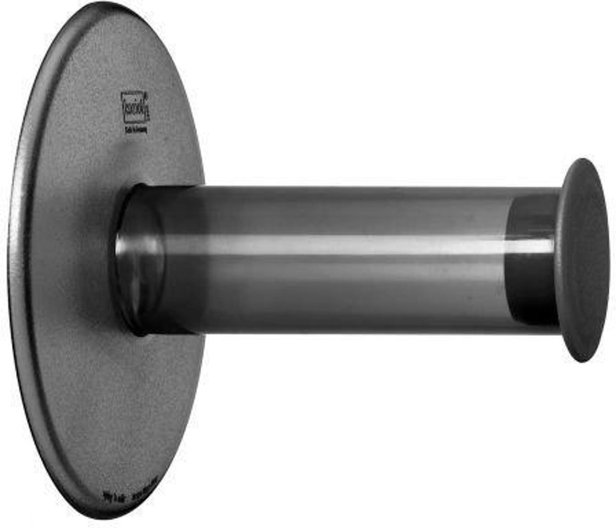 Koziol Plug 'n Roll - Toiletrolhouder - Grijs