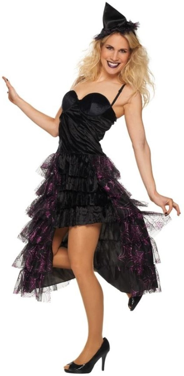 Glamorous Heks - Kostuum Volwassenen - Maat 42 - Carnavalskleding
