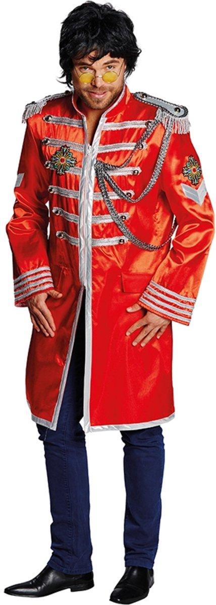 Seargent Pepper Jas rood - Carnavalskleding