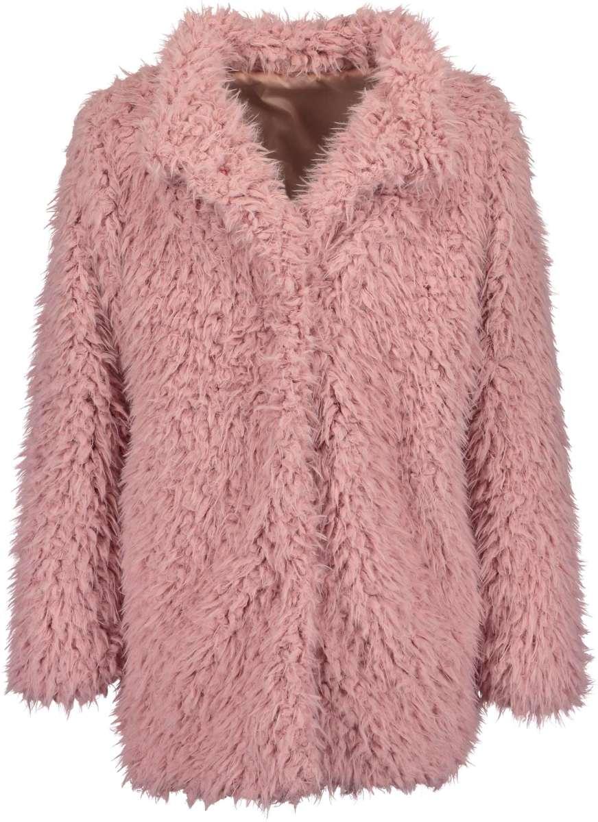 Blue Seven Meisjes Fake Fur Jas Oud Rose - Maat 152