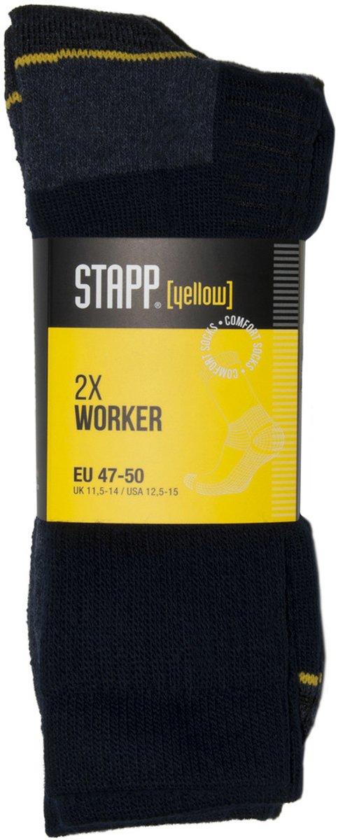 Stapp 4415 Yellow Worker Zwart Sokken 39/42