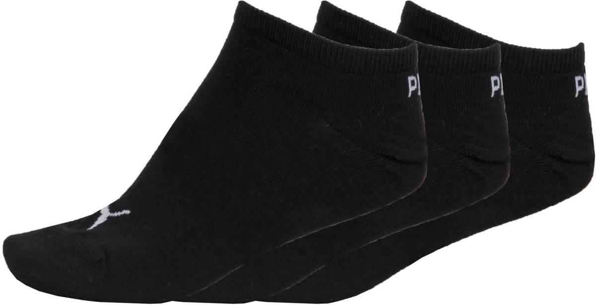 PUMA Invisible Sneakersokken - 3 pack - Zwart - Maat 43-46
