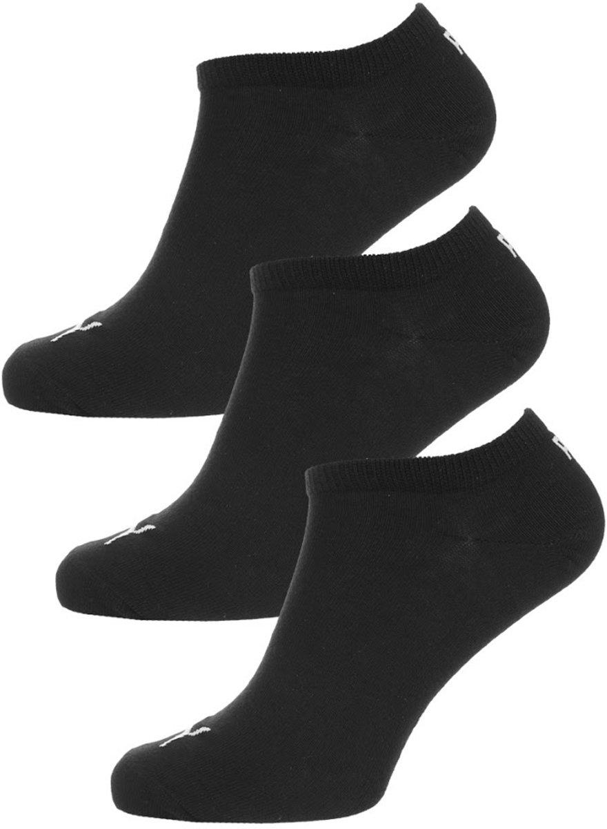 PUMA Invisible Sneakersokken - 3 pack - Zwart - Maat 47-49
