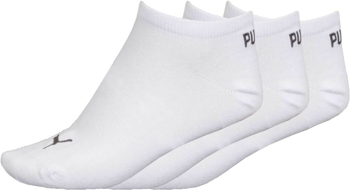 PUMA Invisible Sneakersokken - 3 pack - Wit - Maat 43-46