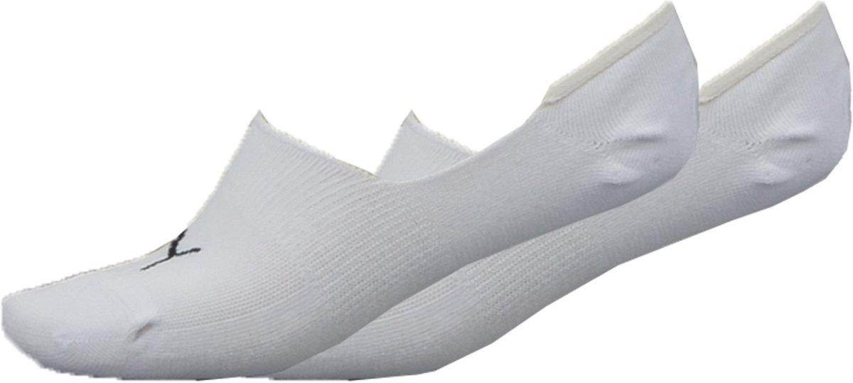 Puma footie 2p unisex - Sportsokken - Volwassenen - white - 43-46