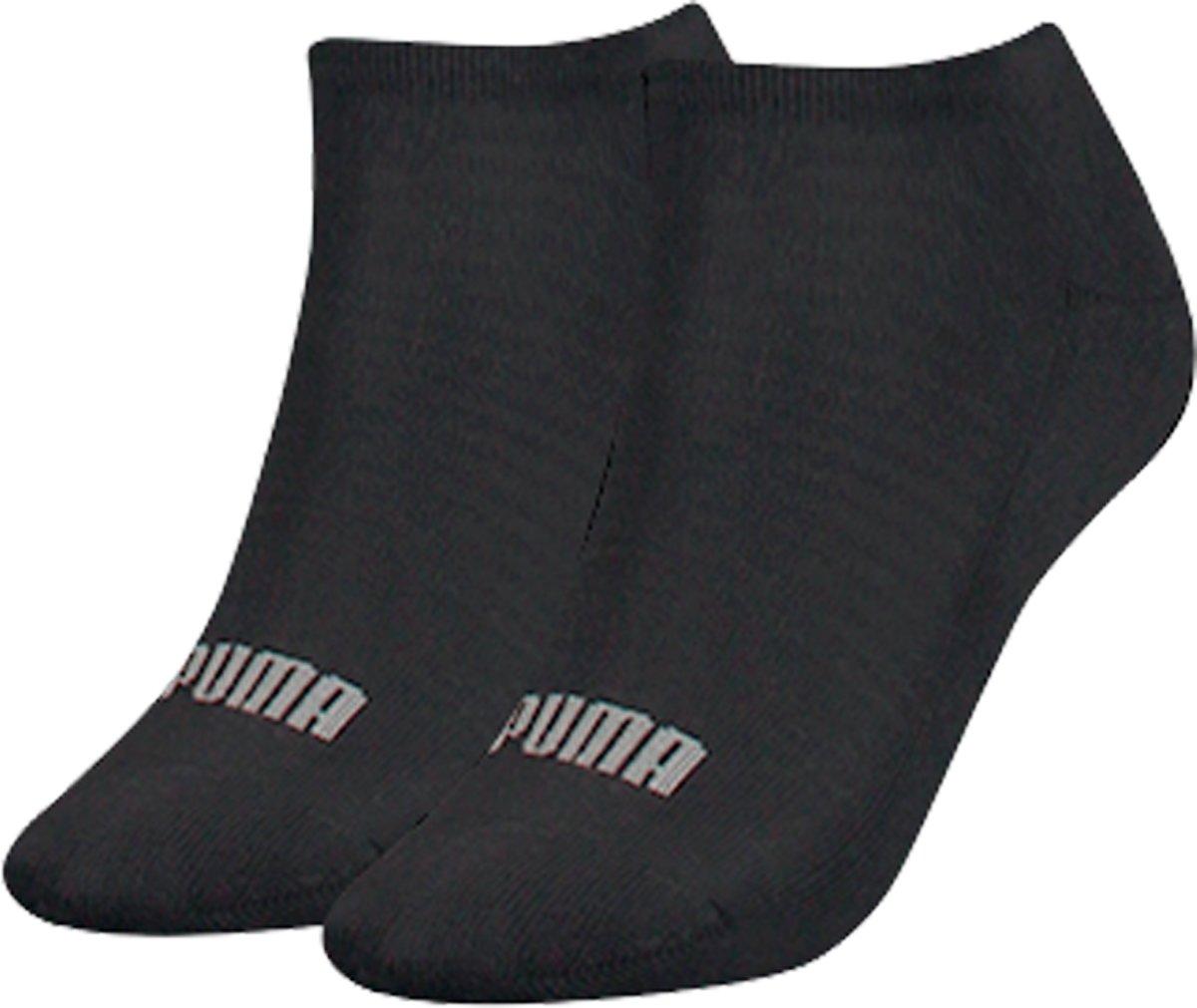 Puma - Dames 2-Pack Sneaker Sokken Zwart - 35-38