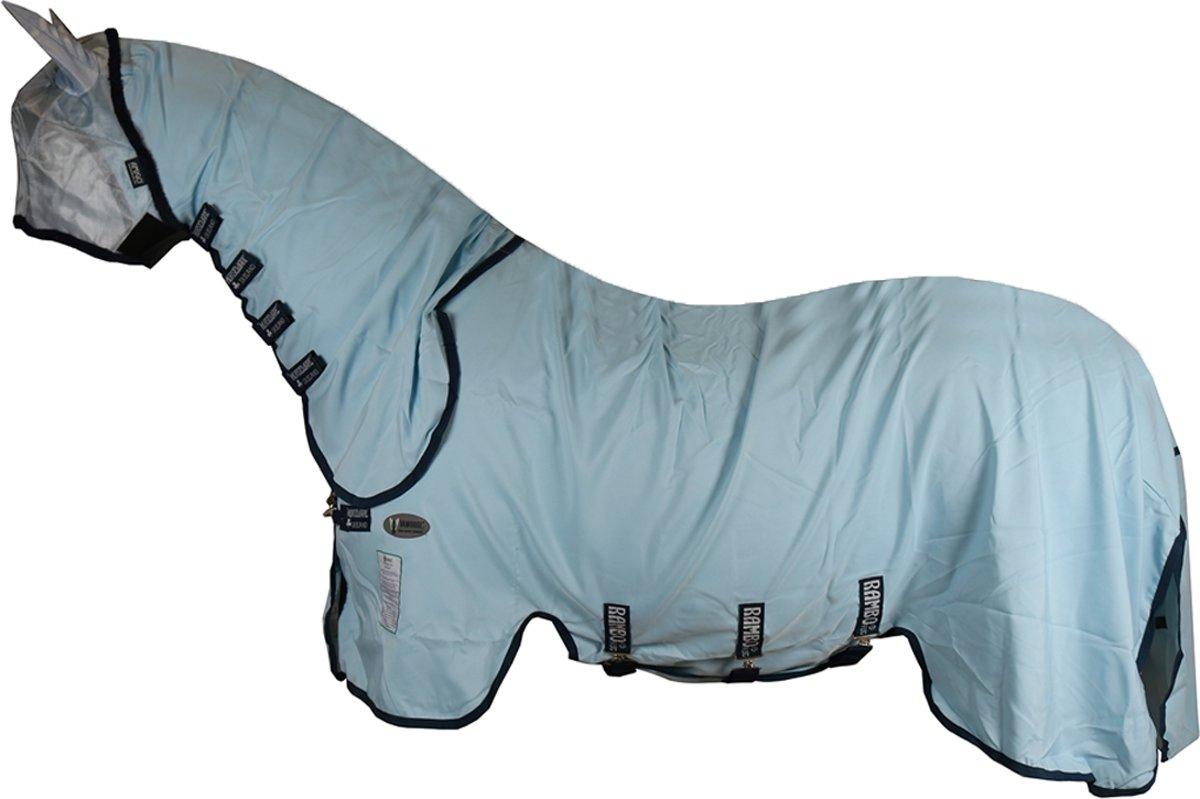 Horseware Eczeemdeken Rambo Sweet Itch Hoody Vamoose - Light Blue - 206 Cm
